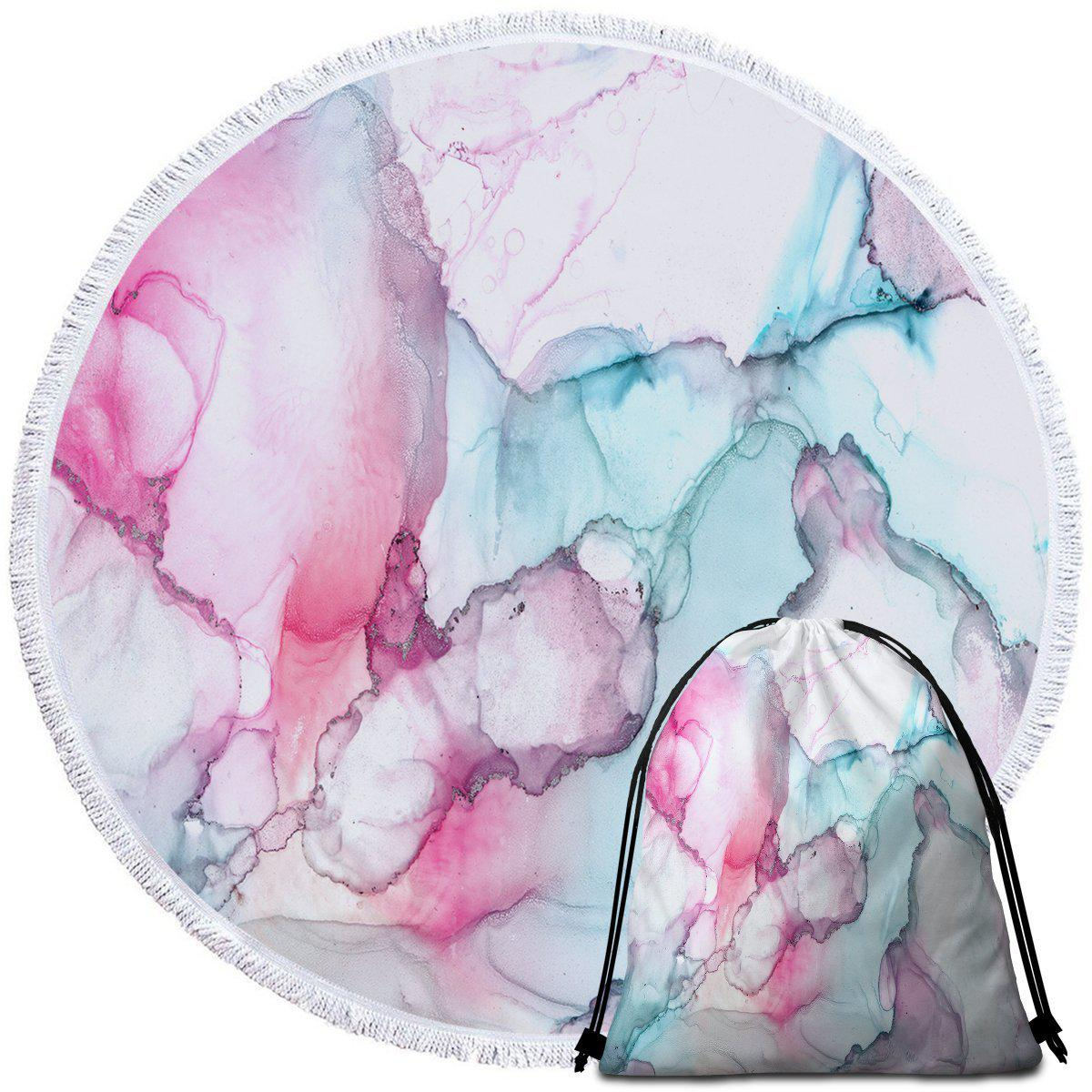 Round Beach Towel-Waikiki Towel + Backpack-Coastal Passion