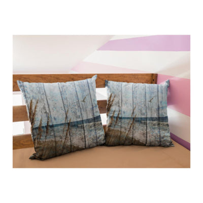 Weathered Wood Style Collection-Pillow Cover-Coastal Passion
