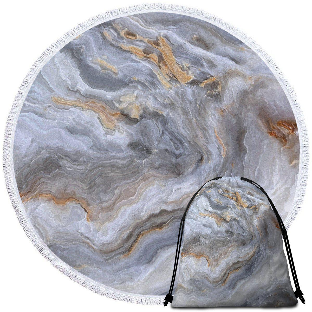 Round Beach Towel-Whitehaven Beach Towel + Backpack-Coastal Passion