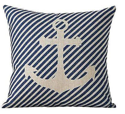 "Yacht Club Collection-Pillow Cover-17"" x 17""-Standard: Linen-Polyester-Yacht Collection 1-Coastal Passion"