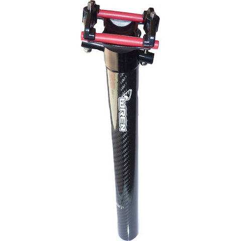 Wren Carbon seatpost 600 series, cromoly bolt, Alu clamp