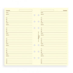 FILOFAX PERSONAL COTTON CREAM ADDRESSES REF:130253