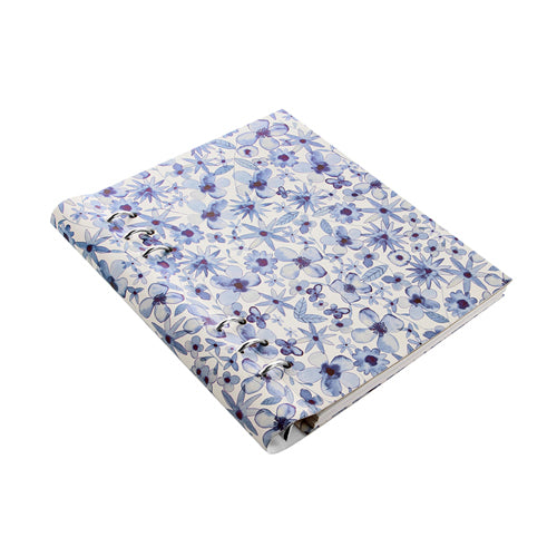 Filofax Clipbook Patterns A5 Notebook Indigo Floral 023624