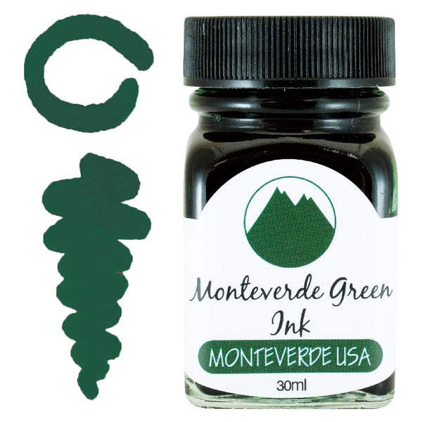 MONTEVERDE USA 30ML FOUNTAIN PEN INK MONTEVERDE GREEN   G309MG