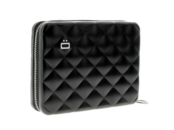 OGON WALLET QUILTED PASSPORT BLACK