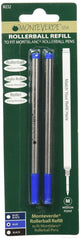 MONTEVERDE BLUE MEDIUM POINT ROLLERBALL REFILL TO FIT MONTBLANC M232BU PACK OF 2