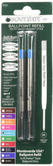 MONTEVERDE BALLPOINT REFILL TO FIT PARKER BALLPOINT PENS SOFT ROLL TURQUOISE 2 PER PACK P132TQ