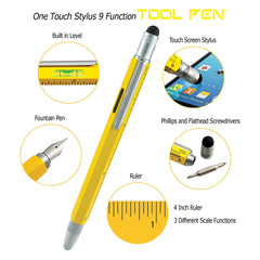 MONTEVERDE USA ONE TOUCH TOOL PEN FOUNTAIN PEN YELLOW MEDIUM NIB MV35230