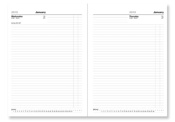 LETTS OF LONDON 2019 BUSINESS DESK A4 DAY PER PAGE DIARY 19-T11XBK