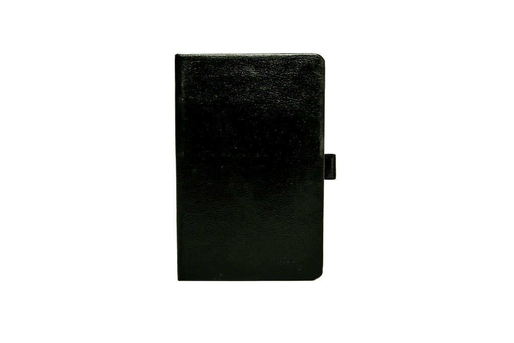 LIVTEK INDIA MI PAD POCKET SIZE HARD COVER DERBY BLACK  NOTEBOOK