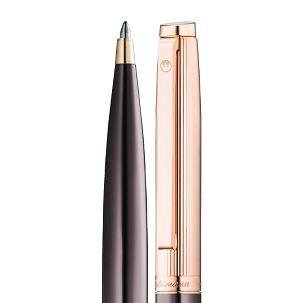 WALDMANN TUSCANY BALLPOINT PEN LINE DESIGN CHOCOLATE/ROSE GOLD  925 STERLING SOLID SILVER 0051