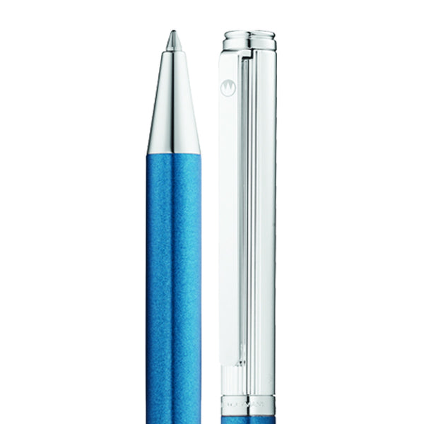 WALDMANN BRIO STERLING SILVER AND BLUE BALL PEN 0357