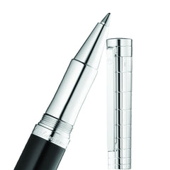 WALDMANN XETRA ROLLERBALL PEN BLACK LACQUER / STERLING SILVER 0020
