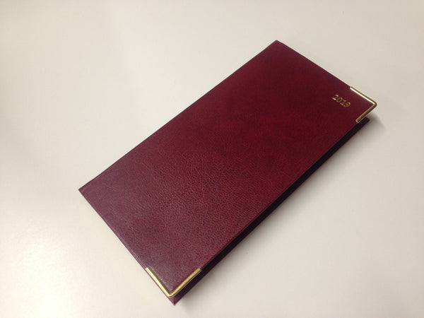LETTS OF LONDON 2019 BUSINESS SLIM PORTRAIT WEEK TO VIEW DIARY BURGUNDY -19-MC3SU2BG- P2