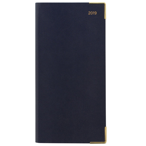 LETTS OF LONDON 2019 BUSINESS SLIM PORTRAIT WEEK TO VIEW DIARY BLUE -19-MC3SU2BL - P2