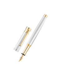 WALDMANN TANGO FOUNTAIN PEN SILVER AND GOLD  BROAD NIB 2328