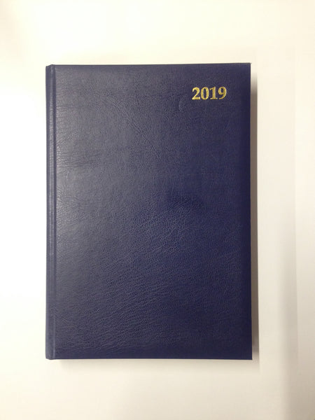 LETTS OF LONDON 2019 A5 DAY PER PAGE DIARY BLACK COLOUR WHITE PAPER A2A-19-MW1X2BL