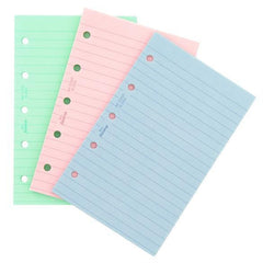 FILOFAX PERSONAL FASHION COLOURED RULED PAPER REF:130507