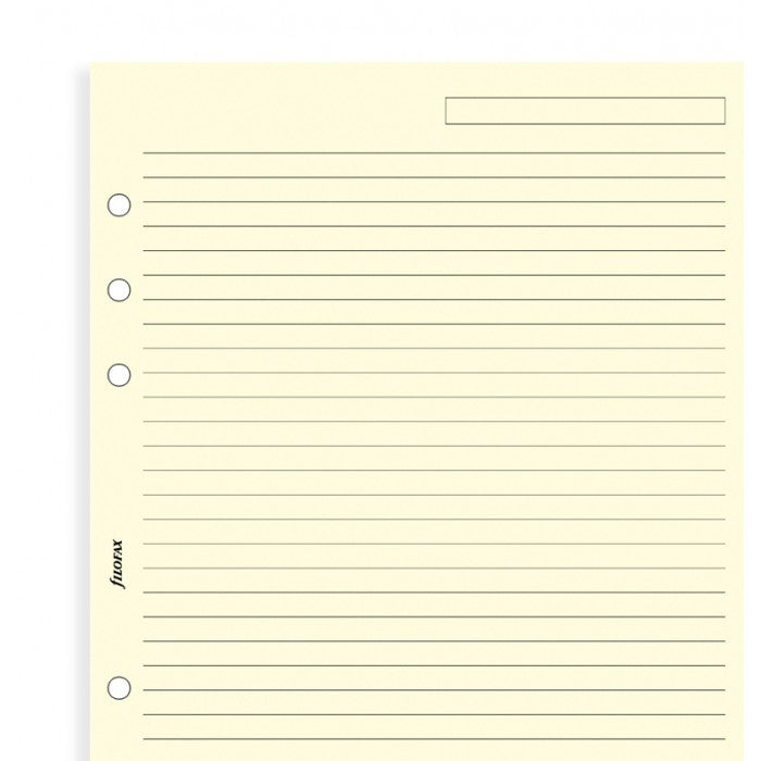 FILOFAX A5 CREAM RULED NOTEPAPER REF:343032