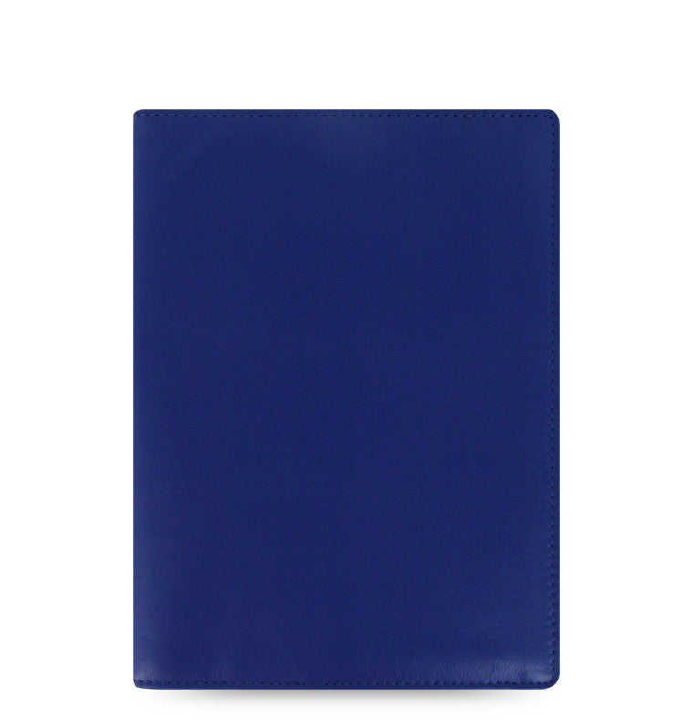 FLEX BY FILOFAX NAPPA LEATHER NOTEBOOK COVER A5 BLUE LEATHER 829815