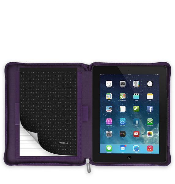 FILOFAX MICROFIBER TABLET CASE LARGE  TO FIT APPLE I PAD 2/3/4 PURPLE 829875