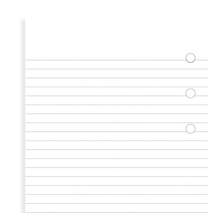 FILOFAX POCKET WHITE RULED NOTEPAD REF:212210