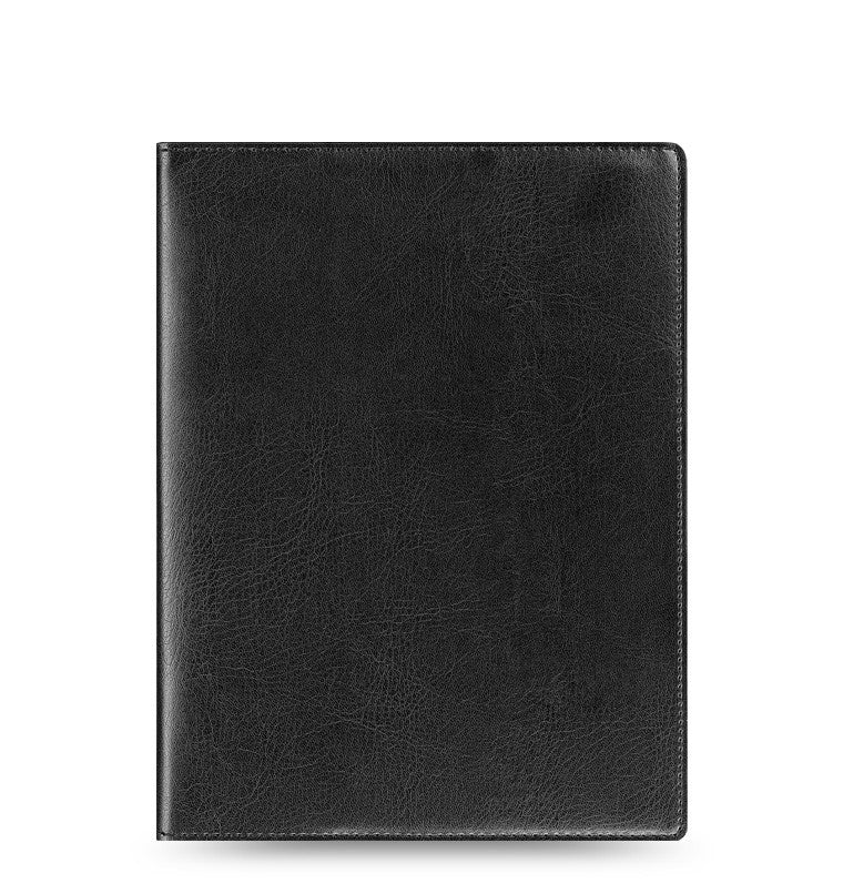FLEX BY FILOFAX NAPPA LEATHER NOTEBOOK COVER A5 BLACK  LEATHER 855030