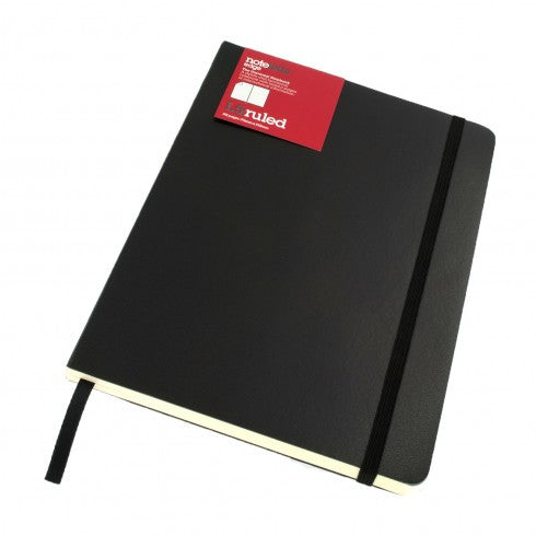 LETTS OF LONDON NOTELETTS EDGE L5 RULED NOTEBOOK BLACK  TNLL5NREDBK