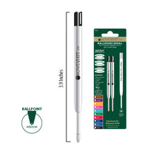 MONTEVERDE BALLPOINT REFILL TO FIT PARKER BALLPOINT PENS SOFT ROLL BLUE BLACK 2 PER PACK P132BB