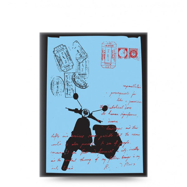 LETTS OF LONDON NOTELETTS RETRO A6+ MOPED  TNRTNB2MO