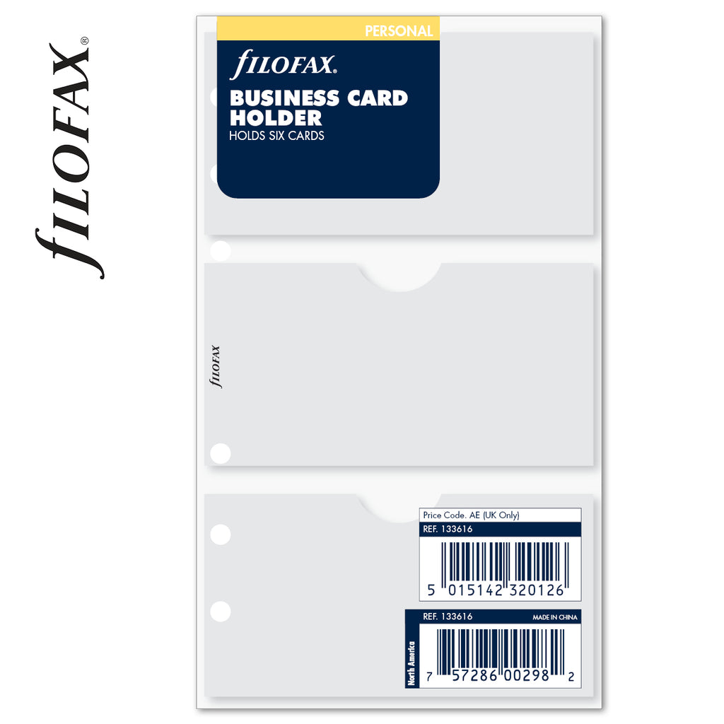 FILOFAX BUSINESS CARD HOLDER PERSONAL
