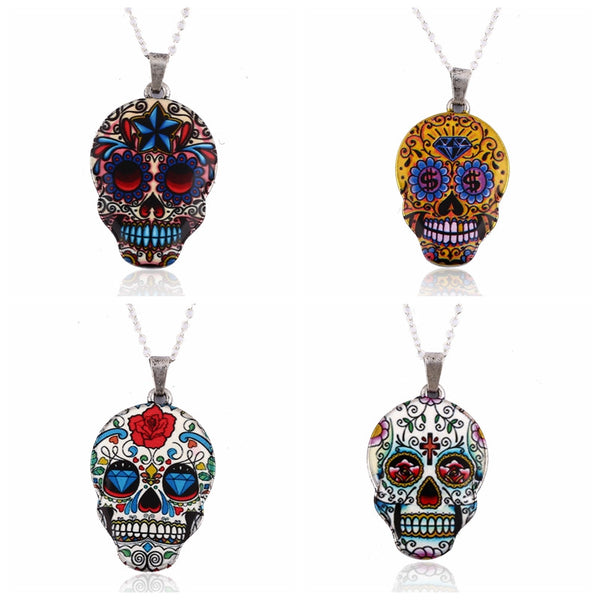 Colorful Skull Pendant