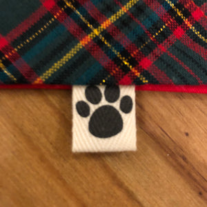 Petsy & Pooch 'Green & Red Tartan' Dog Bandana