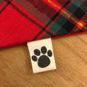 Petsy & Pooch 'Red & Green Tartan' Dog Bandana
