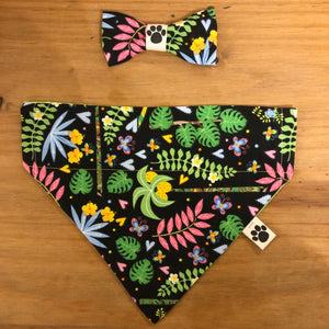 Petsy & Pooch 'Floral Jungle' Dog Bandana & Bow Tie