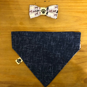 Petsy & Pooch 'Silhouette Dogs' Bandana & Bow Tie
