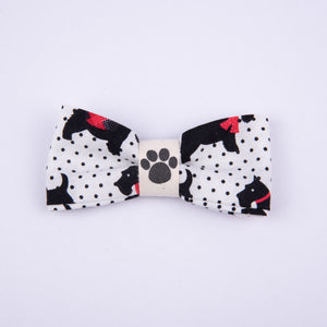Petsy & Pooch 'Scottie on White' Print Bow Tie