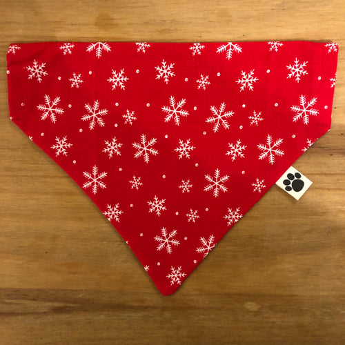 Petsy & Pooch 'Red & White Snowflake' Dog Bandana