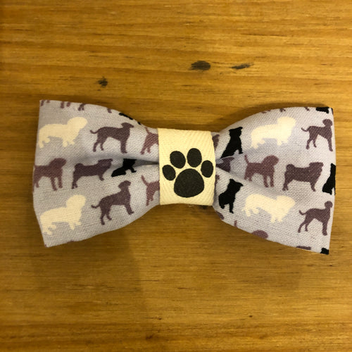 Petsy & Pooch 'Silhouette Dogs' Print Bow Tie