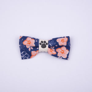 Petsy & Pooch 'Pink on Navy Floral' Print Bow Tie