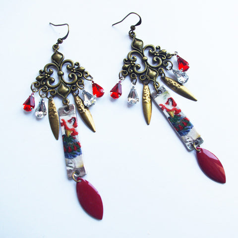 Esmeralda bohemian gyspy danse earrings Spanish style jewelry