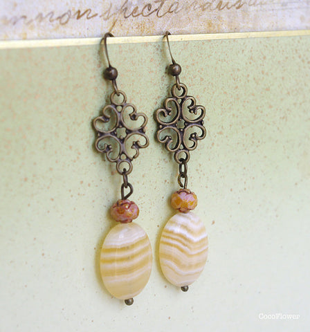 filigree soap stone earrings dangle