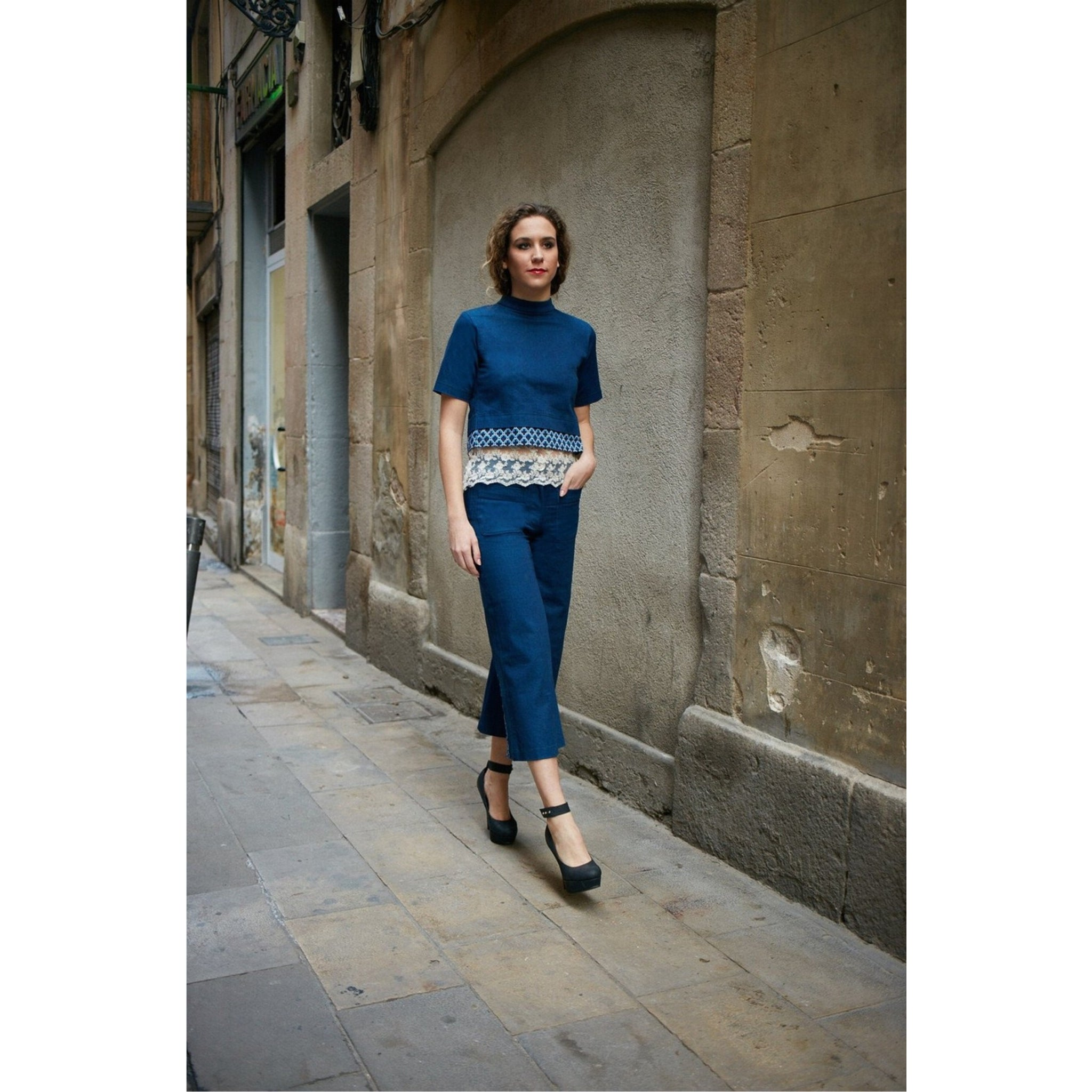 REVERSO CROPPED TOP & CULOTTES