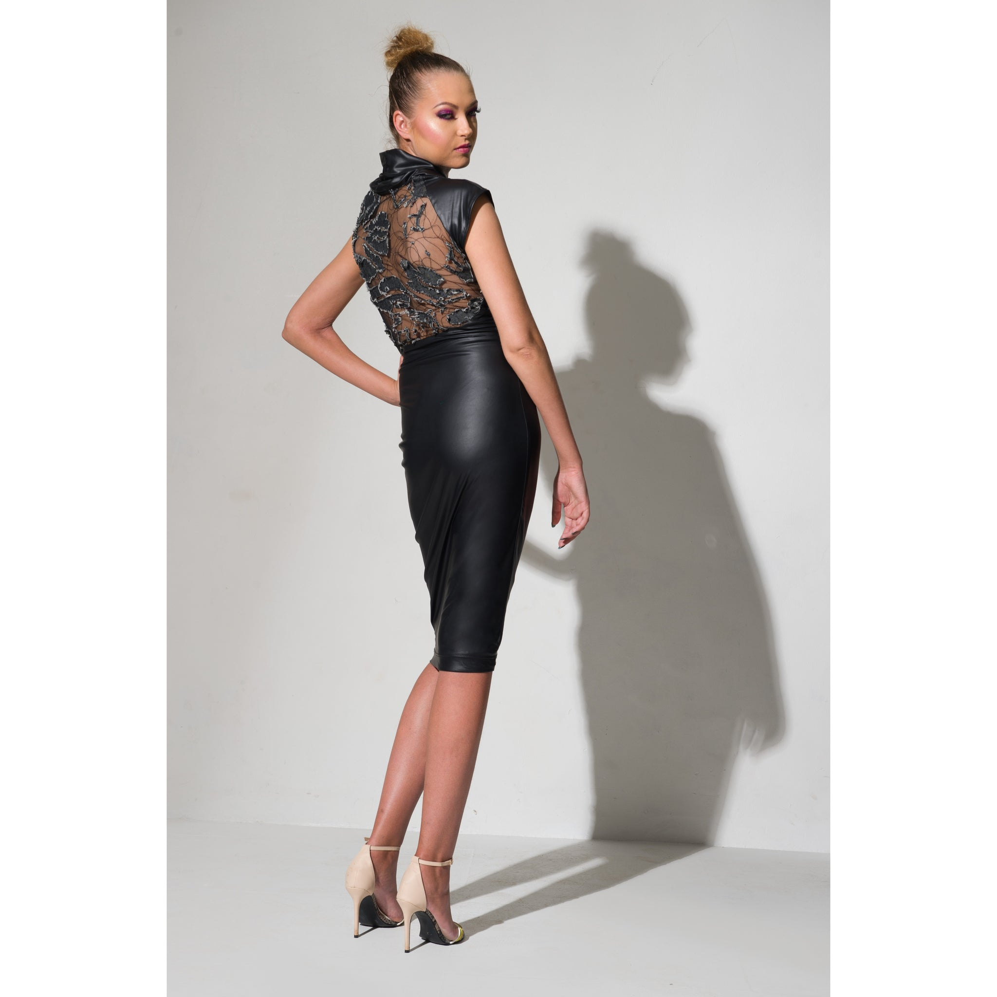Anouk Midi Dress - Black
