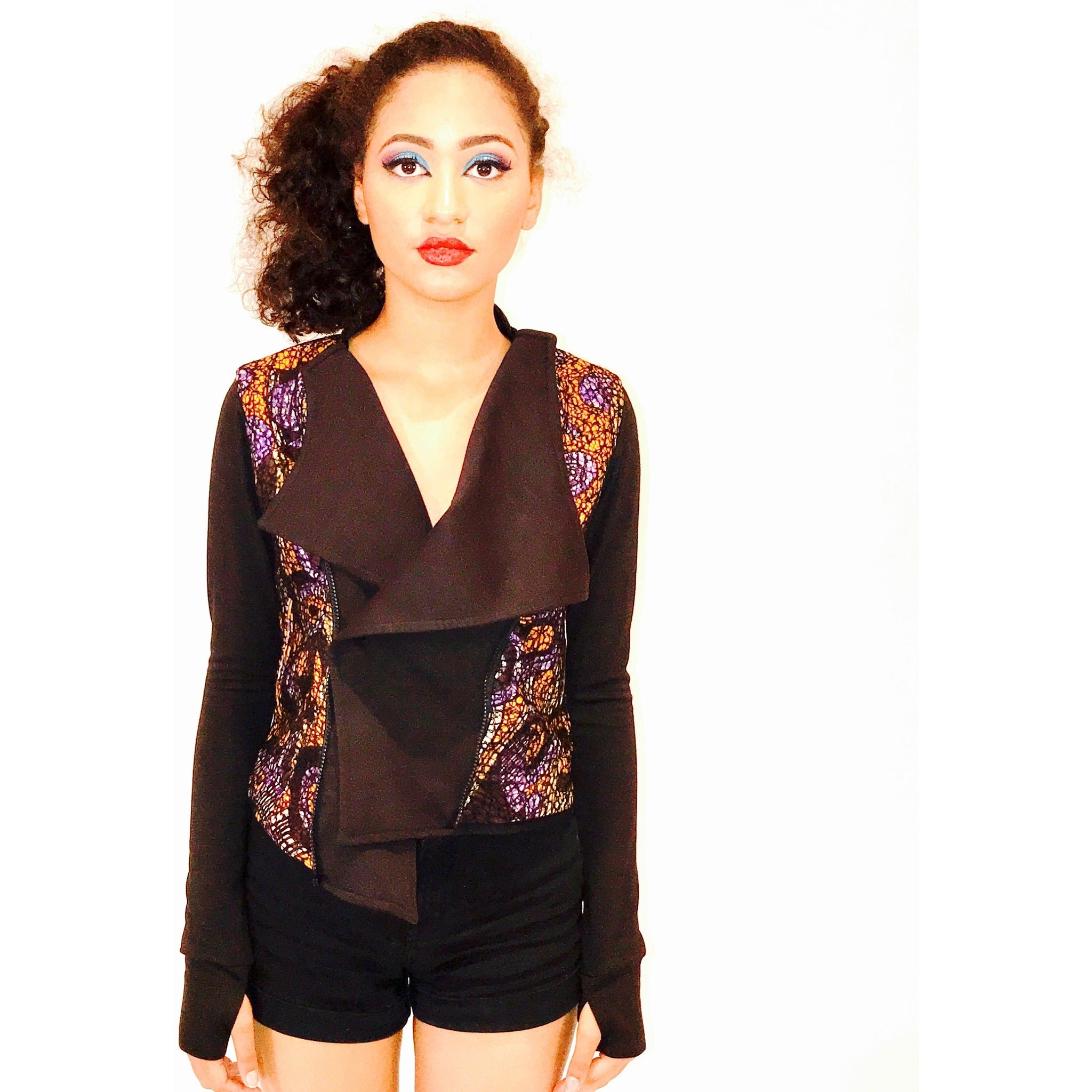 Ayona Lace Overlay Jacket - Long Sleeved