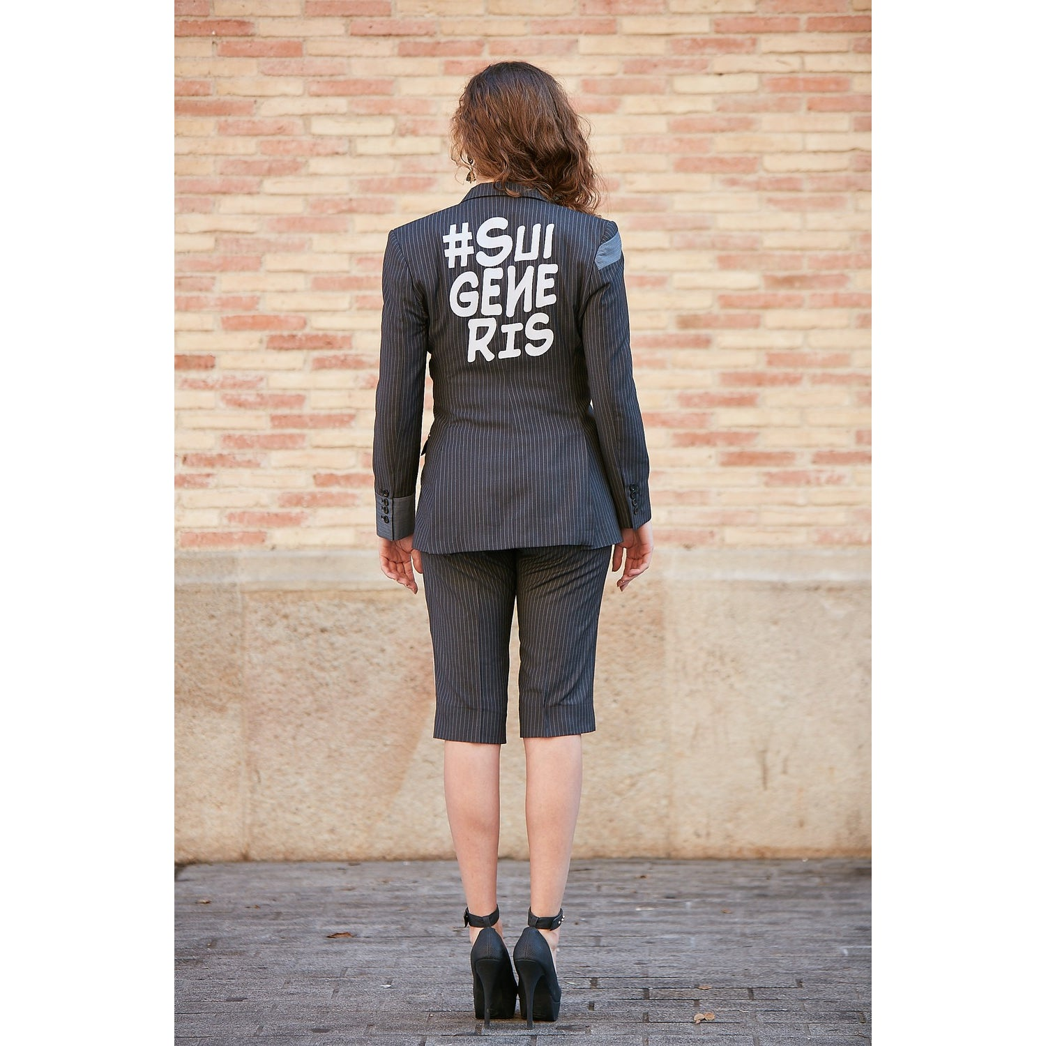 SUI GENERIS PATCH-WORK JACKET & SHORTS