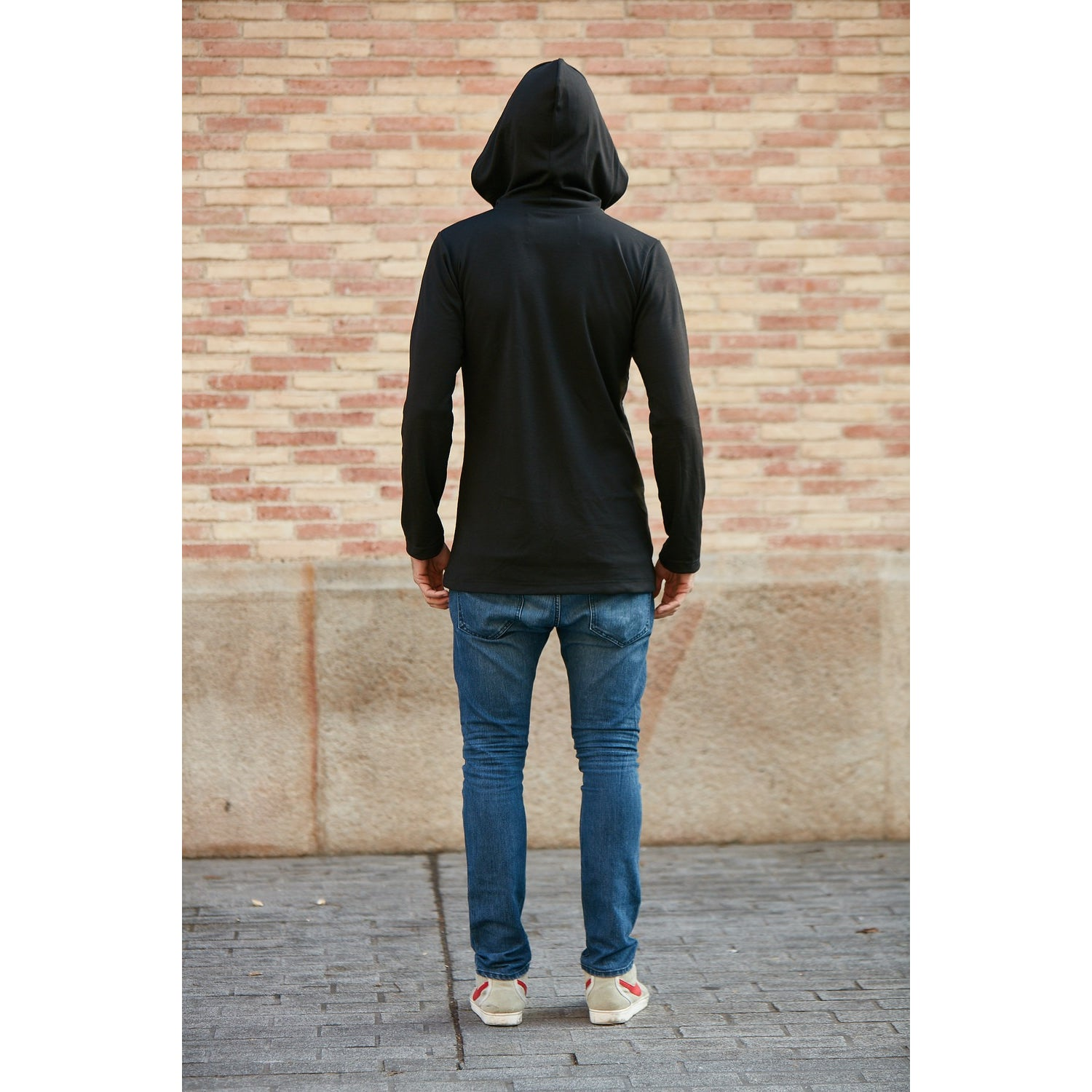MENS VELVET APPLIQUE SIGNATURE HOODED SWEATSHIRT - W/ SIDE-ZIP