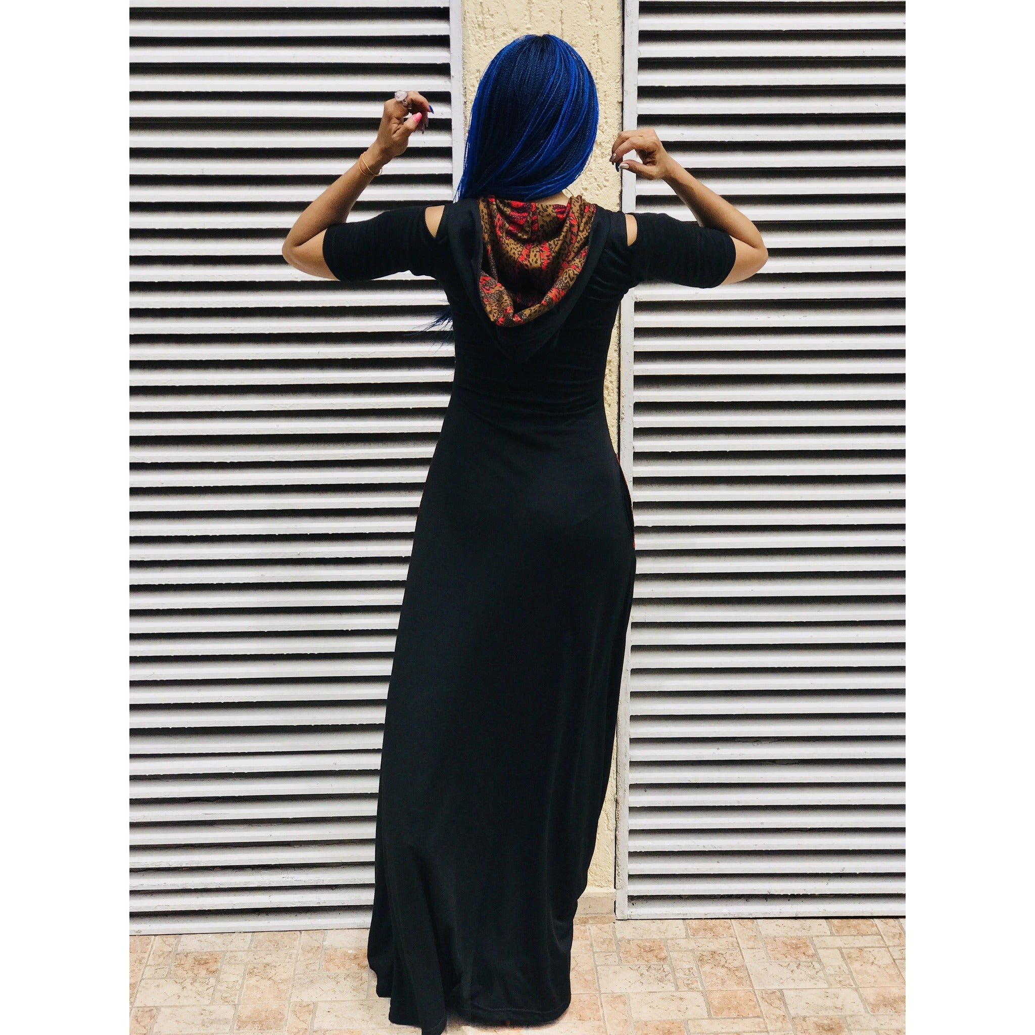 #WAKANDA Favourite Things Maxi Hood Dress