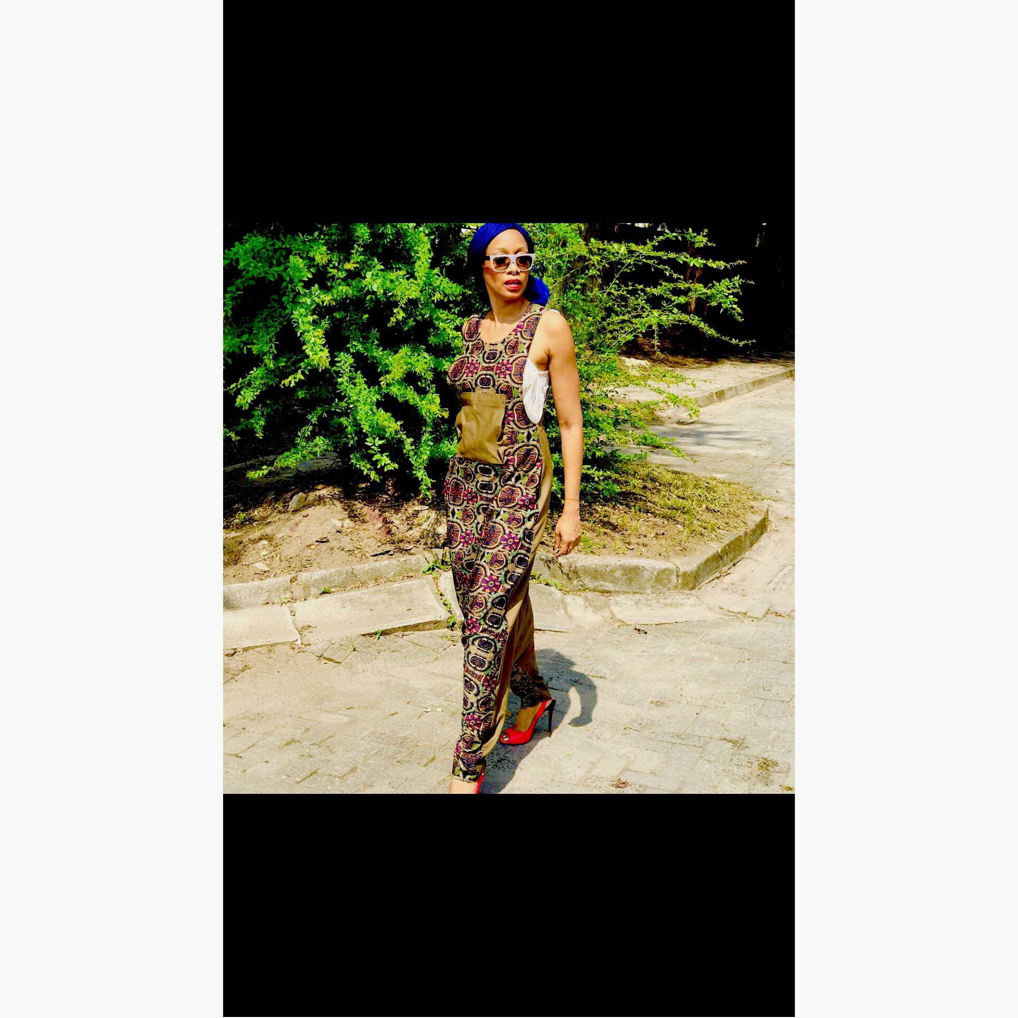 2 Tone  Jumpsuit in Kaleidescope Print