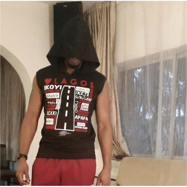 Unisex Love Lagos Sleeveless Hooded Sweatshirt